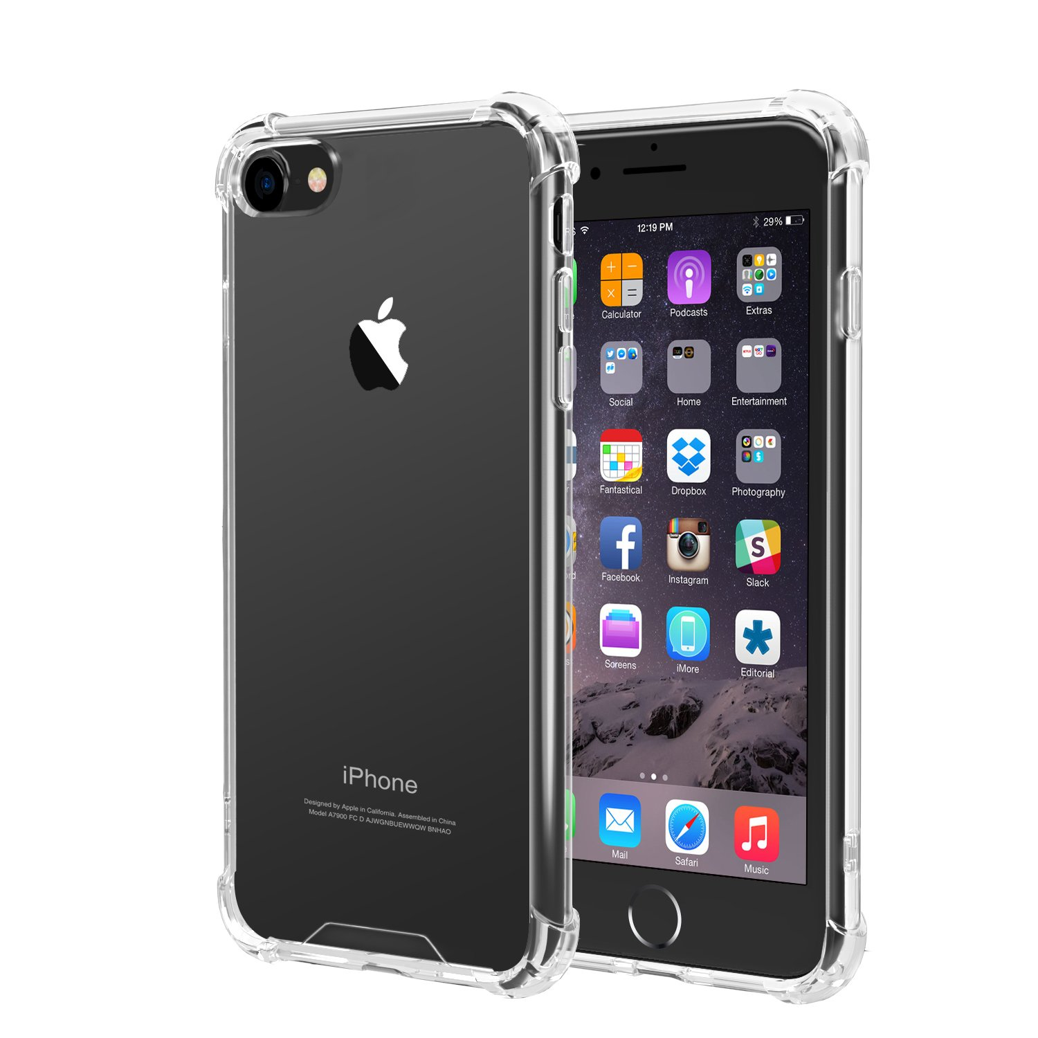 iXCC New iPhone SE Case (2020) iPhone 8 Case iPhone 7 Case, Crystal Clear Hard Cover Case [Shock Absorption] with Soft TPU Bumper for iPhone 8 iPhone 7 (4.7 Inch 2016 Release)- Clear