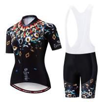 Vgowater Evervolve Women's Cycling Jersey White Bib Shorts Set Biking Bib Suits