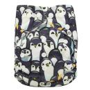 Ohbabyka Reusable Washable Baby Boys/Girls Pocket Cloth Diapers with 1pc Insert (Penguin+1 Insert)