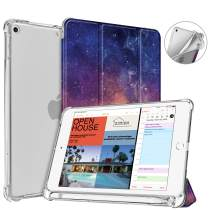 Fintie Case with Pencil Holder for iPad Mini 5 2019 - SlimShell Lightweight Soft TPU Back Protector Translucent Frosted Cover with Auto Wake/Sleep, Galaxy