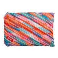 ZIPIT Colorz Big Pencil Case/Cosmetic Makeup Bag, Triangles