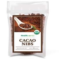 Healthworks Cacao Nibs Raw Organic (16 Ounces / 1 Pound)   Criollo Bean   Unsweetened Chocolate Substitute   Certified Organic   Keto, Vegan & Non-GMO   Antioxidant