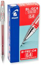 PILOT G-Tec-C Gel Ink Rolling Ball Pens, Ultra Fine Point (0.4mm), Red Ink, 12 Count (35493)