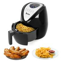 Hopekings Air Fryer, Electric Hot Air Fryers Oven & Oilless Cooker for Roasting, Digital LCD Touchscreen with 7 Presets, Nonstick Basket, ETL Listed (2.9 Quarts)