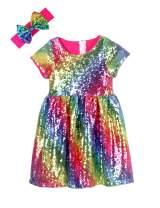Cilucu Flower Girl Dress Baby Toddlers Sequin Dress Kids Party Dress Bridesmaid Wedding Gown