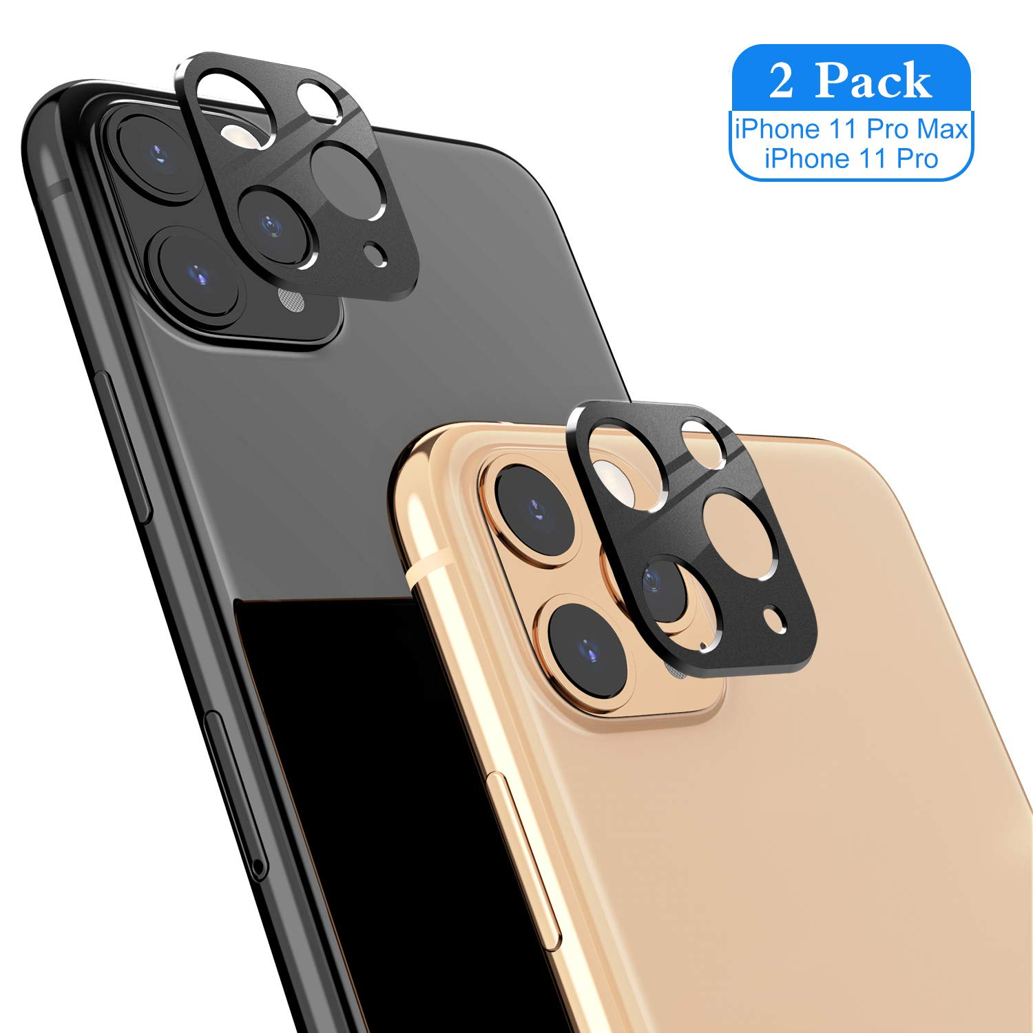 Camera Lens Protector Compatible for iPhone 11 Pro/iPhone 11 Pro Max, ICHECKEY Super Clear Ultra Thin Anti-Scratch Back Camera Lens Tempered Glass Screen Cover for iPhone 11 Pro 5.8''/11 Pro Max 6.5''
