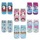 Zmart Funny Crazy Colorful 3D Print Ankle Socks, Cute Unicorn Cat Low Cut Design