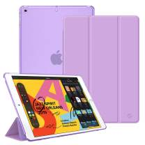 "Fintie Case for New iPad 7th Generation 10.2 Inch 2019 - Lightweight Slim Shell Stand with Translucent Frosted Back Cover Supports Auto Wake/Sleep for iPad 10.2"" 2019 Tablet, Purple"
