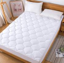 Decroom Cool Mattress Pad Queen,Down Alternative Quilted Mattress Protector, Breathable Fitted Sheet Matress Cover,Queen