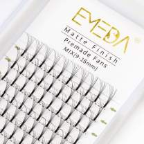 Premade Fans Volume Lash Extensions C Curl D Curl 0.10 Mix Tray 9mm 10mm 11mm 12mm 13mm 14mm 15mm 16mm Mixed Trays .10 6D Pre Fanned Russian Cluster Eyelashes by EMEDA (6D 0.10 D 11mm)
