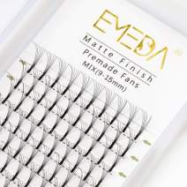 Premade Fans Volume Lash Extensions C Curl D Curl 0.10 Mix Tray 9mm 10mm 11mm 12mm 13mm 14mm 15mm Mixed Trays .07 6D Fanned Russian Cluster Eyelashes by EMEDA (6D .07 C 9-15mm Mix)