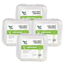 Eagle Wipes Essentials 800 ct 3200 Sheets Lemongrass Essential Oils Naturally Cleans and Deodorizes Gym & Fitness Equipment Wipes Sanitizing Gym Wipes Refill, Pack of 4