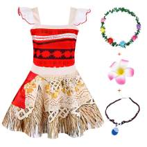 Jurebecia Princess Costume for Girls Lace Ruffle Sleeve Dress Fancy Birthday Party Drees up Summer Outfits with Accessories Size 6