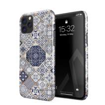 BURGA Phone Case Compatible with iPhone 11 PRO - Tranquil Waters White Gold Marble Blue Moroccan Tiles Pattern Mosaic Cute Case for Women Thin Design Durable Hard Plastic Protective Case
