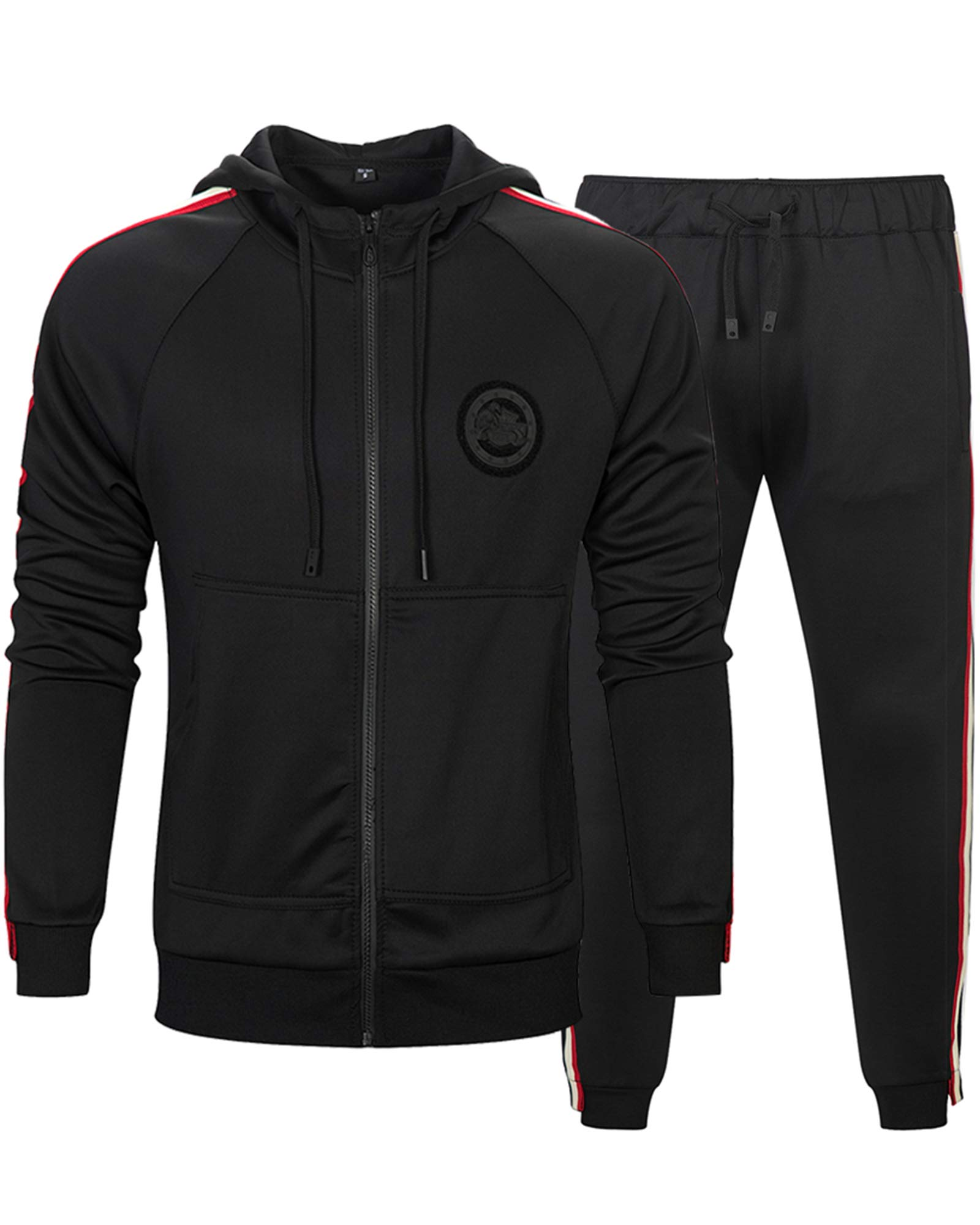 MACHLAB Men's Activewear Sports Jogging Sweat Suits Running Tracksuit