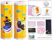 Fation Show Creative Multifunction Electronic Graffiti Board Hexagonal Pen &Pencil Box, Stationery Box, Pen &Pencil Holder(Dr. Cat)