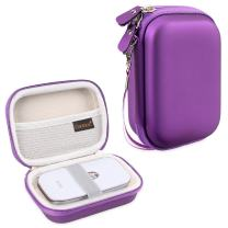 Canboc Shockproof Carrying Case Storage Travel Bag for HP Sprocket Portable Photo Printer and (2nd Edition) / Polaroid Zip Mobile Printer/Lifeprint 2x3 Portable Protective Pouch Box, Purple