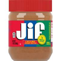 Jif Creamy Peanut Butter, 12 Ounces (Pack of 12), 7g (7% DV) of Protein per Serving, Smooth, Creamy Texture, No Stir Peanut Butter