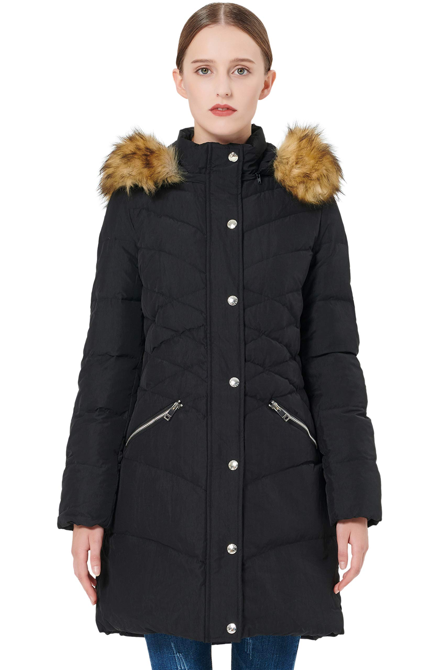 Orolay Women's Thickened Down Jacket Puffer Coat with Hood
