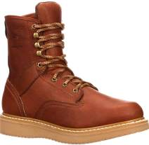 Georgia Boot Men's 8 Inch Wedge Work Shoe, Barracuda Gold, 13 M US