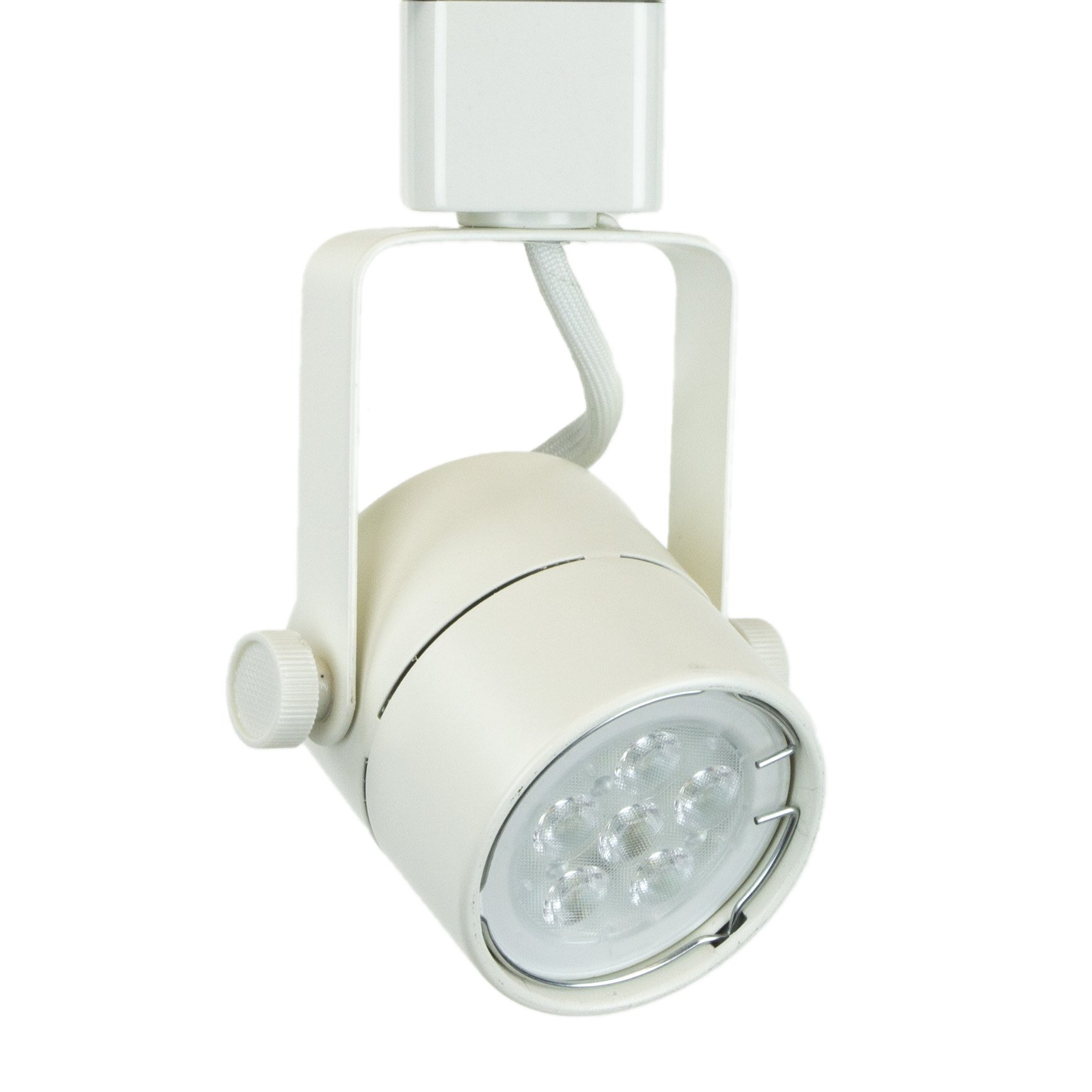 Direct-Lighting H System 3000K GU10 LED Track Lighting Head White - with 3000K Warm White 7.5W LED Bulb 50154L