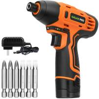 """GALAX PRO 1/4"""" DC-12V Electric Screwdriver with Rechargeable 1.3Ah Lithium Ion Battery and 6PCS Screw Bits for Home DIY Assembling, Attaching, Fixing"""