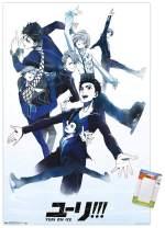 "Trends International Poster Mount Yuri On Ice - Group, 22.375"" x 34"", Poster & Mount Bundle"