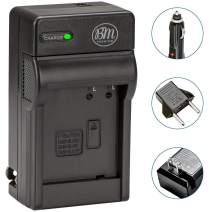 BM Premium DMW-BLH7 Battery Charger for Panasonic Lumix DC-GX850, DMC-LX10, DMC-LX15, DMC-GM1, DMC-GM1K, DMC-GM1KA, DMC-GM1KS, DMC-GM5, DMC-GM5KK Digital Camera