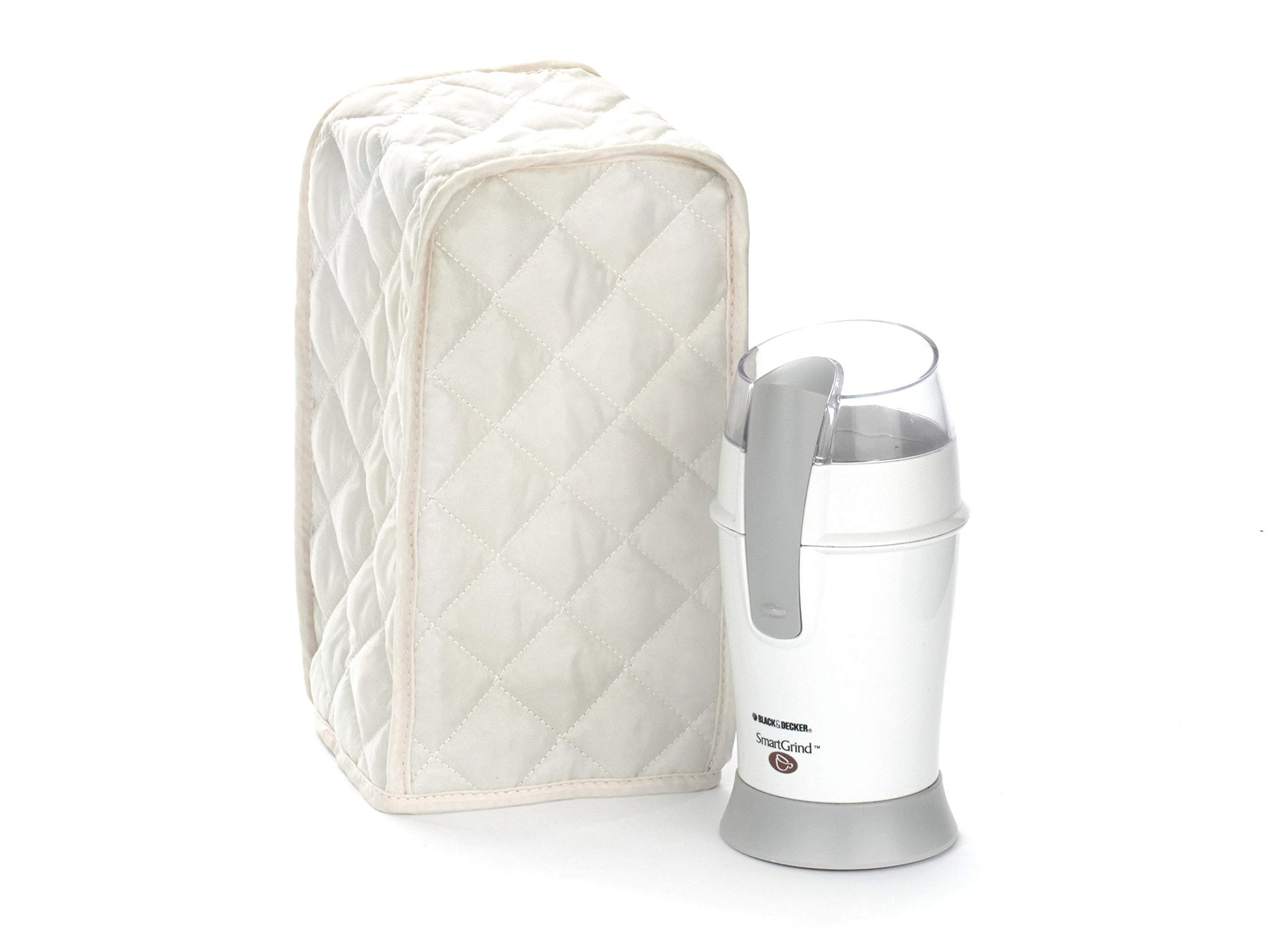 Covermates Keepsakes – Coffee Grinder – Dust Protection - Stain Resistant - Washable – Appliance Cover - Cream