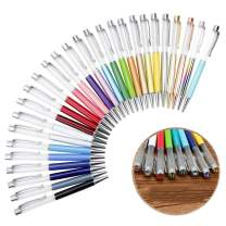 27 Pack Colorful Empty Tube Floating DIY Pens,Top with Diamonds,Building Your Favorite Liquid Sand Pens Gift