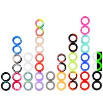 Stuppendux 22Pairs Soft Silicone Tunnels Ear Gauges Tunnels Plugs Stretchers Expander Mix Set for Women Men 2g-3/4