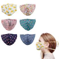 Woplagyreat Cotton Face Mask for Kids, 3D Design & Cute Print, Adjustable Elastic Ear Loops