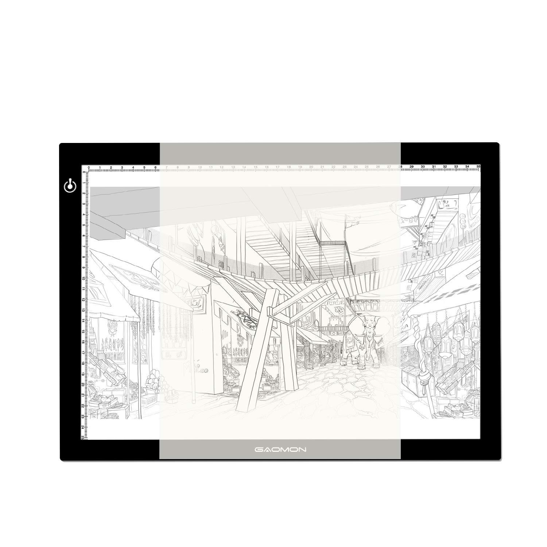 GAOMON B4 Size LED Light Box 5 Millimeters Ultrathin Light Pad USB Art Tracing Board for Sketch Copy and Handwork - GB4