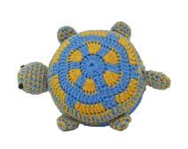 Tape Measure, Fun Handmade Crochet Designed Animals (Blue Turtle)