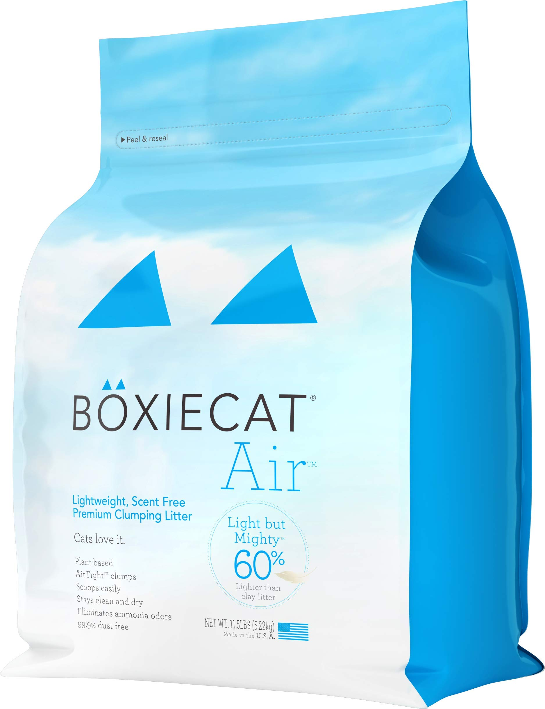 Boxiecat Premium Clumping Cat Litter - Scent Free - Ultra Clean Litter Box Formulas With Longer Lasting Odor Control, Hard Clumping Litter, 99.9% Dust Free