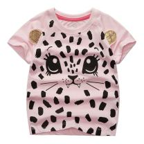 Sooxiwood Little Girls T-Shirt Cat Cartoon