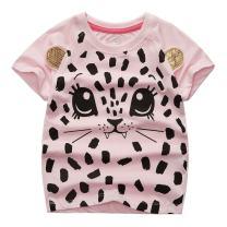 Sooxiwood Little Girls T-Shirt Cat Cartoon