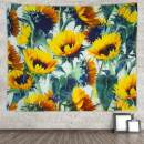 Grace Store Sunflower Tapestry Wall Hanging Yellow Mandala Tapestry for Bedroom, W81 x L61
