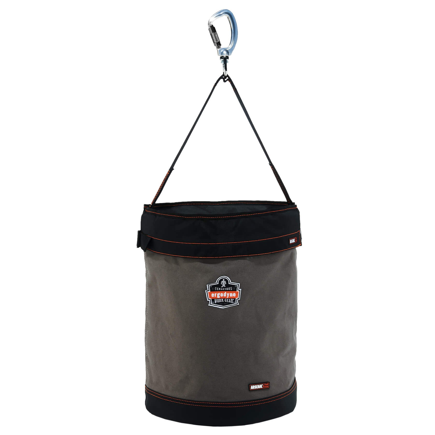 Ergodyne Arsenal 5945T X-Large Canvas Tool Bucket with Cover, Gray