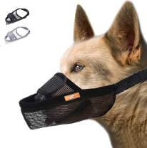 wintchuk Dog Muzzle, Dog Mouth Guard Mesh for Barking Chewing Biting, Soft Muzzle for Small Medium Large Dogs, Able to Pant and Yawn, Adjustable