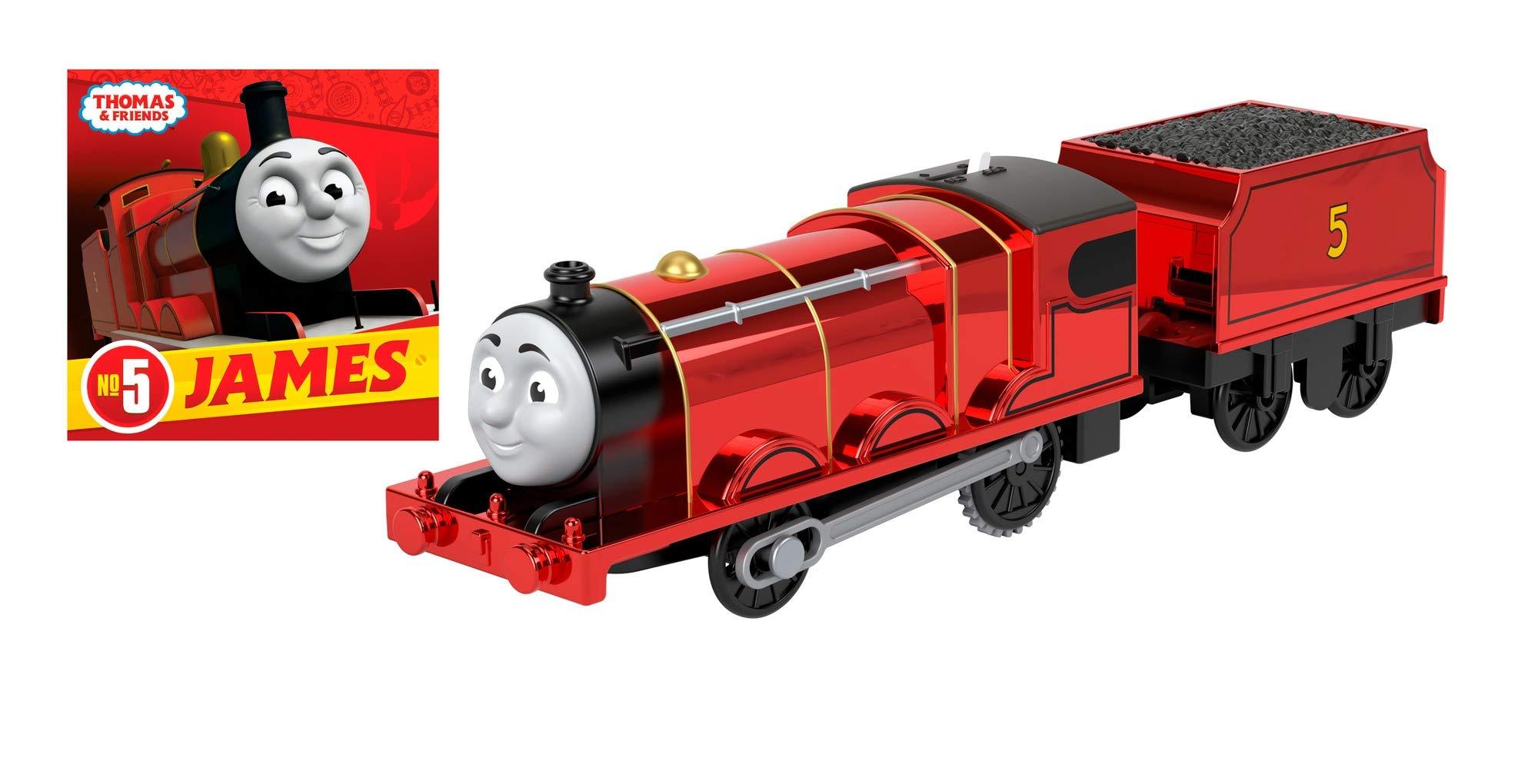 Thomas & Friends Celebration James Metallic Engine & Storybook, Multicolor, GNB49