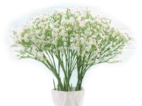 Baby Breath, Gypsophila Artificial Fake Silk Plants, Real Touch Flowers DIY Home Garden for Wedding Party Valentine's Day Decoration, Idea Present for Mother's Day (White), 10Pcs