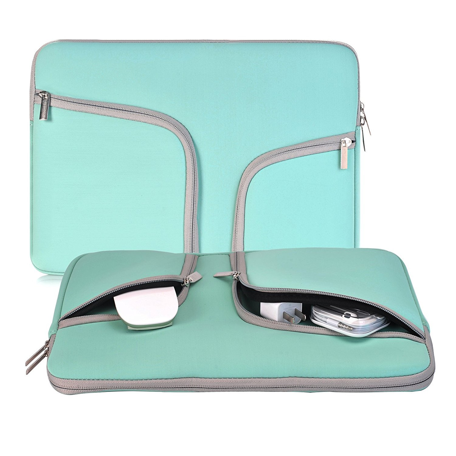 egiant Laptop Sleeve 13.3 Inch, Water-Repellent Protective Case Bag Compatible Mac Air 13, Pro 13 Retina, Pro 13 Touch Bar, Chromebook 13.3, Stream 13, Surface Book, Notebook Carrying Cases-Turquoise
