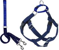 2 Hounds Design Freedom No Pull Dog Harness | Adjustable Gentle Comfortable Control for Easy Dog Walking |for Small Medium and Large Dogs | Made in USA | Leash Included