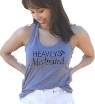 Heavily Meditated Women's Tri-Blend Heather Gray Racerback Tank Top