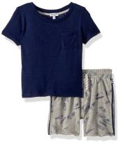 Splendid Boys' Kids and Baby Short Sleeve Tee Shirt and Bottom 2 Piece Set