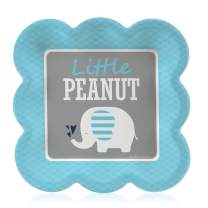 Big Dot of Happiness Blue Elephant - Boy Baby Shower or Birthday Party Dessert Plates (16 Count)