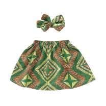 Toddler Kids African Attire Ethnic Dashiki Print Tutu African Skirt +Headband 2Pcs Clothing Sets