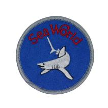 Sea World Shark Patch Travel Badge Aquatic Park Embroidered Iron On Applique