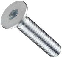 "Alloy Steel Socket Cap Screw, Zinc Plated Finish, Flat Head, Hex Socket Drive, Meets ASME B18.3, 1"" Length, Fully Threaded, #8-32 Threads (Pack of 100)"